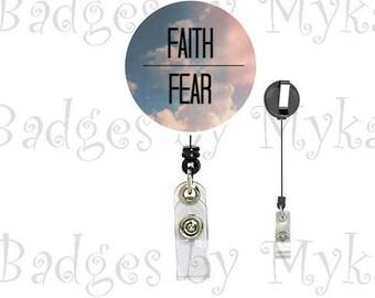 Retractable ID Badge Holder - Faith/Hope