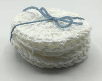 Reusable Cotton Facial Rounds, Crochet Face Rounds, Cotton Rounds, Face Scrubbies, Makeup Remover Rounds, Makeup Wipes