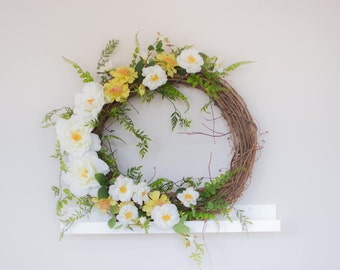 Wreath, Spring Wreath, Front Door Wreath, Floral Wreath, Summer Wreath, Home Decor, Grapevine Wreath