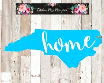 North Carolina Decal   NC Decal   North Carolina Home State Decal   Home State Decal   Vinyl Decal