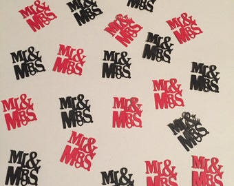 Mr. & Mrs. Table/Card/Envelope Confetti
