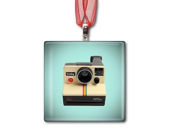 Polaroid One Step Sears Special - Handmade Glass Photo Ornament