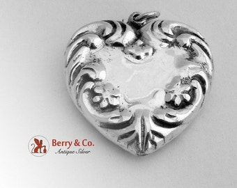 SaLe! sALe! Puffy Heart Pendant Sterling Silver