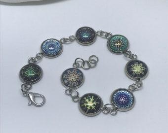 Snowflake charm bracelet