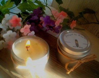 Beach Daisies Soy Candle--Candles, Candles in Tins, Soy Candle, Handpoured, Feminine Soft Floral