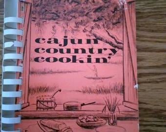 Cajun Country Cookin, 1966, Vintage Mid Century Cookbook