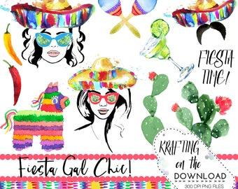 watercolor fiesta girl png clipart watercolor cinco de mayo clip art set watercolor cinco de mayo clipart plus bonus phrases png files!