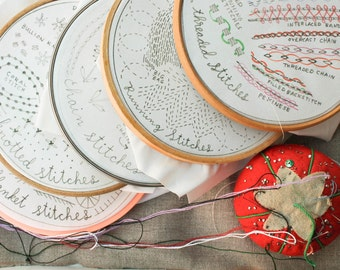 12 Month Stitch of the Month Embroidery Subscription