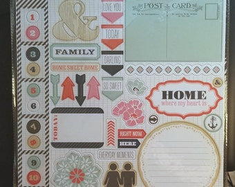 Chipboard Stickers / Family Stories / Flowers / Theresa Collins / Art Journal / Planner / Dimensional Embellishment / Cards / Scrapbooks