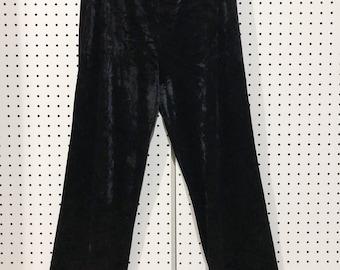 Velvet black dress pant