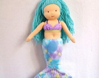 Waldorf-Inspired Mermaid Doll PDF Pattern