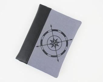 Men Passport Wallet, Travel Wallet, Mens Passport Holder - Compass