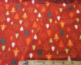 Enchanted Forest Cotton Quilt Fabric  Christmas Trees Stof Denmark