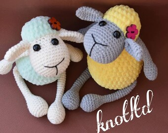 Crochet crocheted lamb, Amigurumi lamb, Crochet sheep, Crochet toys, Sheep for baby, Stuffed animals, Sheep toy, Baby toys Newborn gift