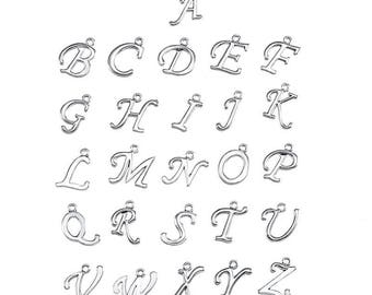 Silver Alphabet/ Initial/ Letter Charms - Single Charm or Full Alphabet, Jewellery Making, Custom Jewellery Making