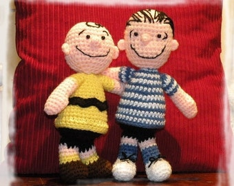 Instant download - SPECIAL OFFER - 4 amigurumi crochet pattern from Peanuts - Charlie, Franklin, Linus and Pigpen