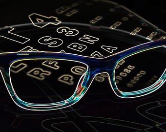 Glasses art eyechart1, glasses, eyeglasses, photography, fine art, optical