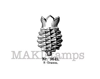 Vintage fruit stamp / Pineapple rubber stamp/ Unmounted rubber stamp or cling stamp option (140210)