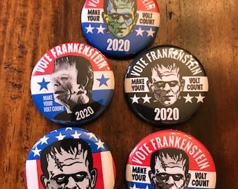 Vote Frankenstein 2020 Kit - 5 Buttons and a sticker