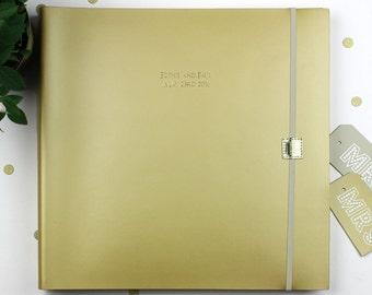 Personalised Jumbo Recycled Leather Wedding Photo Album