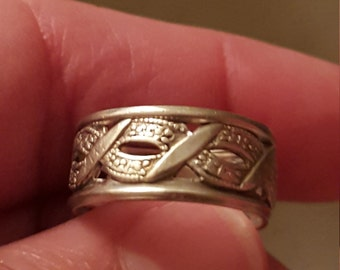 VintageJoseph Esposito Sterling Silver Braided Band Ring Size 6
