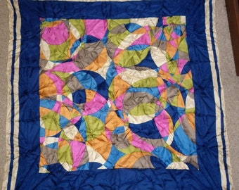 Art Deco Motif Large Silk Scarf Great Condition