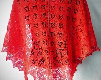 шаль  knitted shawl