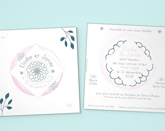 """Délicate Nature"" wedding invitation"