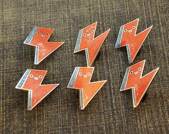 Seconds Sale Kawaii Bowie Bolt Pin Flawed Hard Enamel Pin