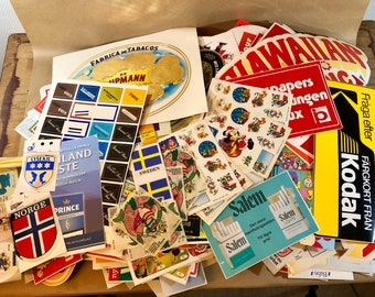 FREE WORLDWIDE SHIPPING - 900+ stickers from 1970-80s Sweden