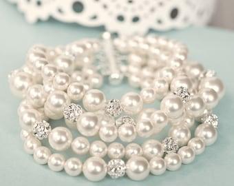 Bridal Bracelet, Bridal Jewelry Bracelet, Statement Bridal Cuff Bracelet