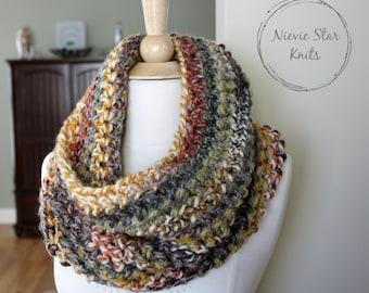 Crochet Infinity Scarf, Crochet Cowl, Crochet Neckwarmer, Chunky Crochet Scarf, Chunky Crochet Cowl // The AMELIA