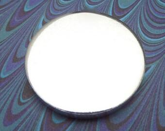"5 Blanks 1.25 Inch Discs 8 Gauge Pure Food Safe Metal Almost 1/4"" Thick - 5 Discs"