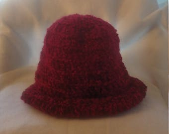 half price rolled brim hat in shades of red