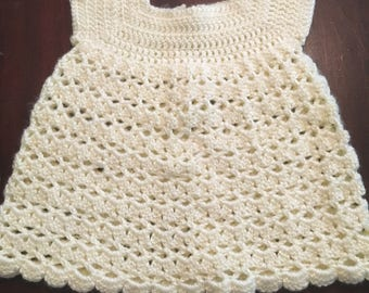 Crocheted Baby Girl Dress