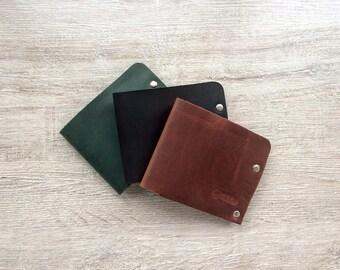 Leather wallet / Handmade leather wallet / Mens bifold wallet / Billfold wallet