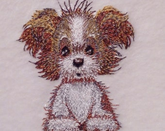 Scruffy Puppy Design (79) - Embroidered Personalised Fleece Dog Blanket