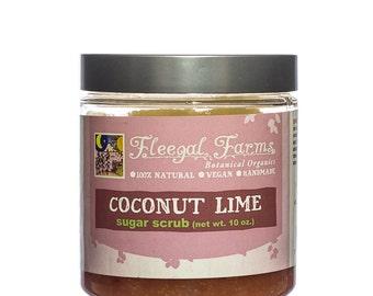 Fleegal Farms Coconut Lime Sugar Scrub Vegan