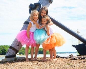 The Amalie - Girls short knee length Tutu - SEWN Full Tulle Skirt - Made to Order - Flower girl tutu, Photo prop, birthday, dance