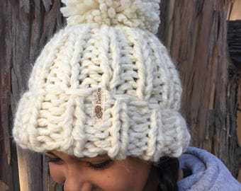 0lympic Inspired Hand Knit Chunky Beanie