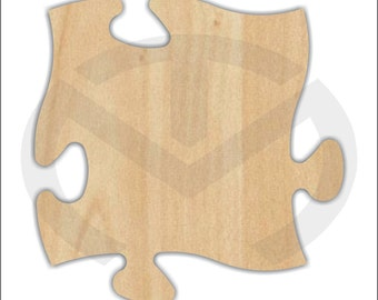 Puzzle Piece -  01565- Unfinished Wood Laser Cutout, Home Decor, Connecting Pieces for Wall Display, Autism Awareness