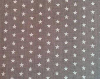 53 x 150 cm ruffled fabric stars Taupe fabric coupon
