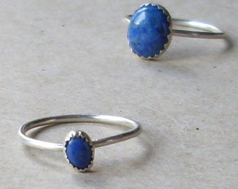 Oval Small Lapis Stacking Ring