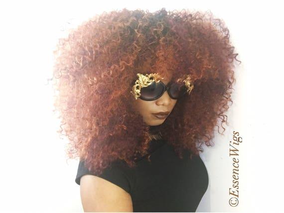 Essence Wigs Gorgeous 'CopPer-Fect 'Bangs  Big Curly Wig Unit Copper colored unit