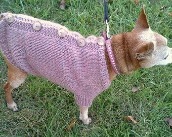 Chloe's Cardigan Dog Sweater PDF Knitting Pattern by Vint Hill Knits