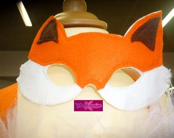 Mask Fox/foxy for costume child boy or girl for the mardi gras or Carnival