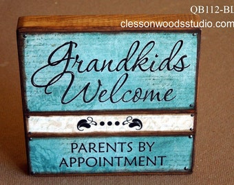 Grandkids Welcome Quote Block (QB112)