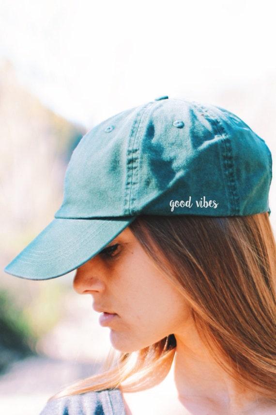 Good Vibes Cap   Dad Hat   Yoga Hat   Yoga Cap   Travel Hat   Women's Hats   Womens Hats Trendy   Yoga Clothes   Yoga Accessories   Cap by Etsy