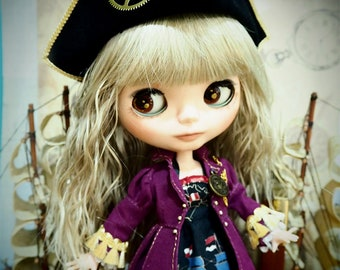 Blythe Gothic Pirate ship peter pan steam punk dress pioneer outfit