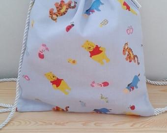 Winnie the Pooh bag,children backpack, kids backpack,children bag, baby bag, kawaii bag, school bag,lunch bag,clothes baby bag, bears bag